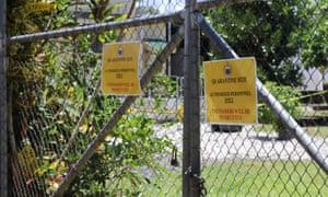 Отель в Апиа, Самоа, где был подтвержден первый случай заболевания в стране, который теперь оказался историческим.
