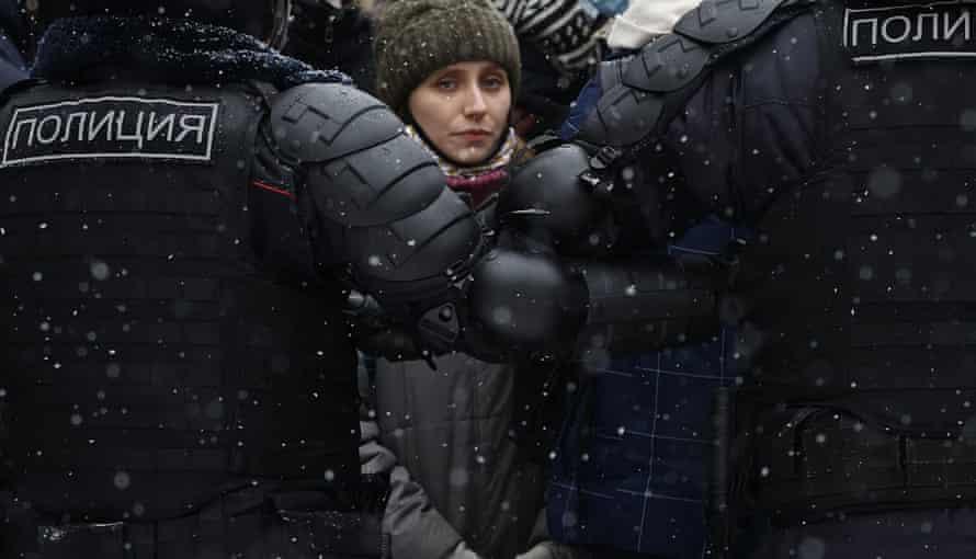 Протестующий в Москве